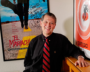 Portrait of Dr. Charles Ramirez-Berg in Radio, Television and Film for a banner feature story. (Photo credit: Christina S. Murrey)